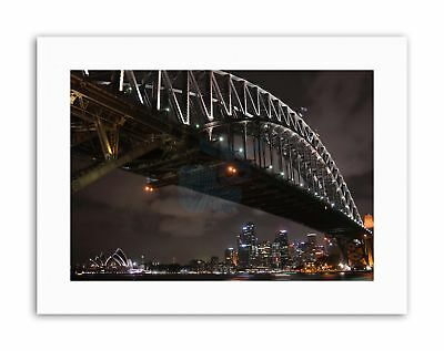 CITYSCAPE SYDNEY HARBOUR BRIDGE NIGHT Poster Canvas art Prints (Sydney Harbour Bridge Poster)