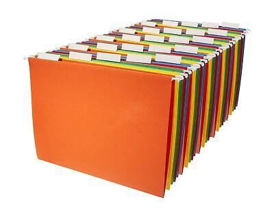 Hanging File Folders 25 Ct Letter Size Assorted Colors Clear Tabs White Inserts