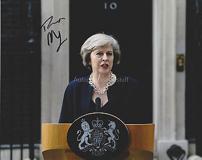 Theresa May Hand Signed 8x10 Photo, Autograph, Current British Prime Minister