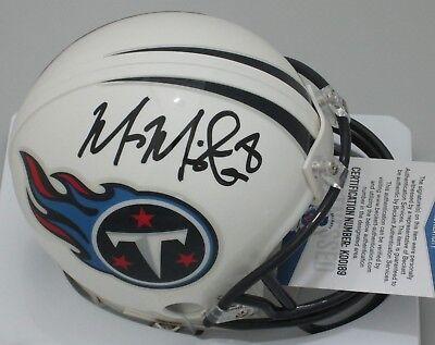 Titans Quarterback MARCUS MARIOTA Signed Mini Helmet AUTO - BCA - SALE - (Signed Titans Mini Helmet)