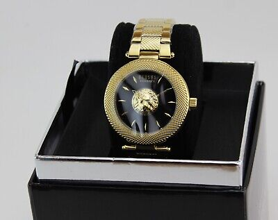 NEW AUTHENTIC VERSUS BY VERSACE BRICK LANE GOLD BLACK WOMEN'S VSP213518 WATCH