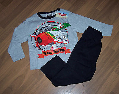 Disney Planes von Cars Jungen Pyjama grau oder blau Gr. 104 - 128 ()