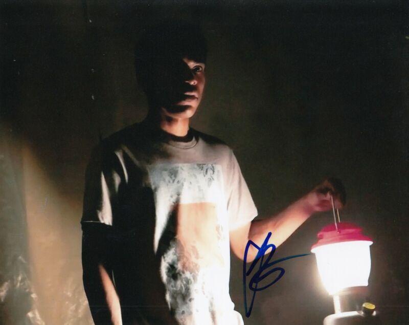 KELVIN HARRISON JR signed (IT COMES AT NIGHT) Movie 8x10 photo *TRAVIS* W/COA