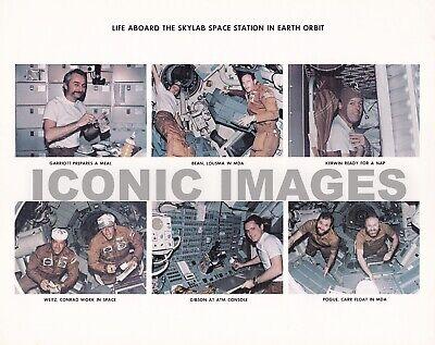 VINTAGE 1974 NASA PHOTO-LIFE ABOARD THE SKYLAB SPACE STATION IN ORBIT