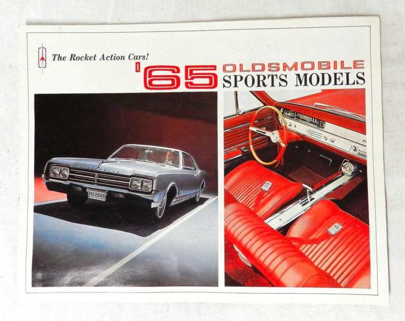 ORIGINAL 1965 OLDSMOBILE SPORTS MODELS 442  GM SALES BROCHURE