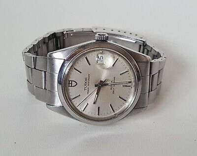 Men's Stainless Steel Rolex Tudor Prince Oysterdate Automatic Wrist Watch