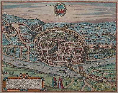 Saintes - Braun und Hogenberg - Originaler Kupferstich von 1580