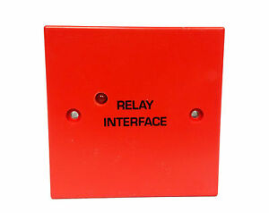 Fire-Alarm-Auxiliary-Relay-Interface-24V-DPCO-230V-AC-8A-contacts-RED
