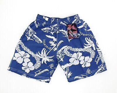 Badeshorts Badehose für Jungen + Mädchen Bermuda Shorts Schwimmhose blau Gr 116