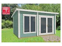 4.2m x 3m log cabin