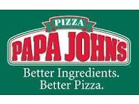 2 x Company Car and 2 x Moped Delivery drivers Papa Johns Preston (vehicles provided)