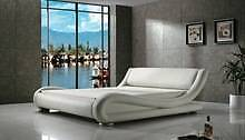Brand New Curved Pu Leather King  bed Italian Design Seven Hills Blacktown Area Preview