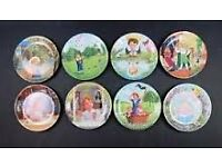 Full Set Of 8 Davenport Treasury Of Classic Children's Verse Plates (boxed)