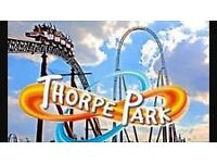 2 TICKETS TO THORPE PARK 6/8/2017