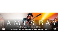 James Bay Standing Tickets x3 open air theatre Scarbough Tuesday 12th July