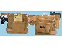 11 Pocket Professional Leather Tool Pouch