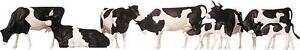 FALLER 155508 Black & White Cows 'N' Gauge Model Railway Animals