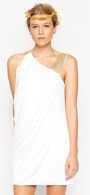 Sexy Ladies Greek Roman Toga Costume Olympic Outfit