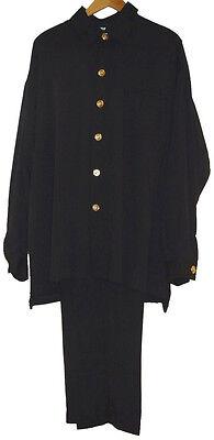 'REDLOG' 2 pc Suit (Shirt Collar) Solid Color- Black, Charcoal, Khaki and  Brown Color Shirt Black Suit