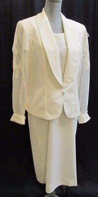 Caron Chicago formal evening Mother of the bride gown jacket Size 12 NWT $178