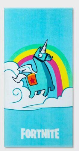NEW Fortnite Brite Unicorn Beach Towel - Blue