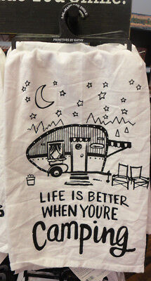 Camping - Life Is Better When You're Camping Kitchen Towel - Primitives By