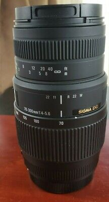 Sigma 70-300mm f/4-5.6 DG Macro for Canon Made in Japan