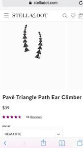 Stella and Dot Pave Ear Climber