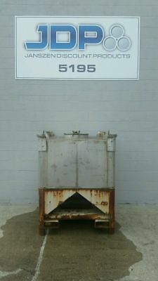 Used Stainless Steel Tote 327 Gallon Ibc Tank Listed Low To Move Fast Sku 35