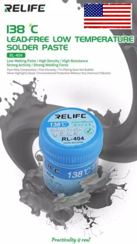 RELIFE RL-404, Low Temp Solder Paste, Pcb, Weight 40g 138c