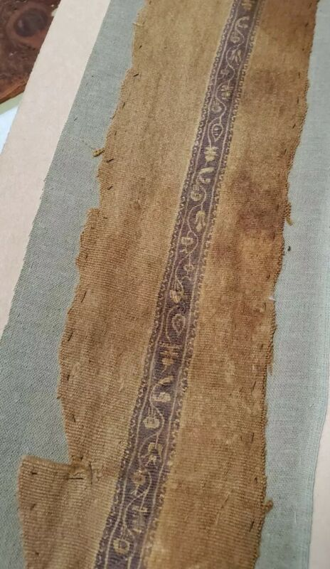 Old african textile ancient vintage cloth fabric print burial shroud?