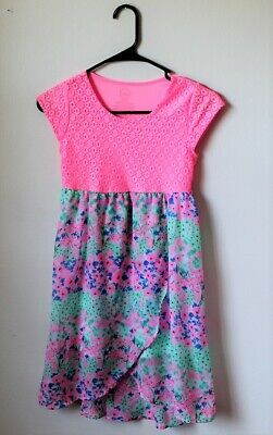 Dress for girls with long skirt pink and blue color sleeveless casual style - Blue Dress For Girls