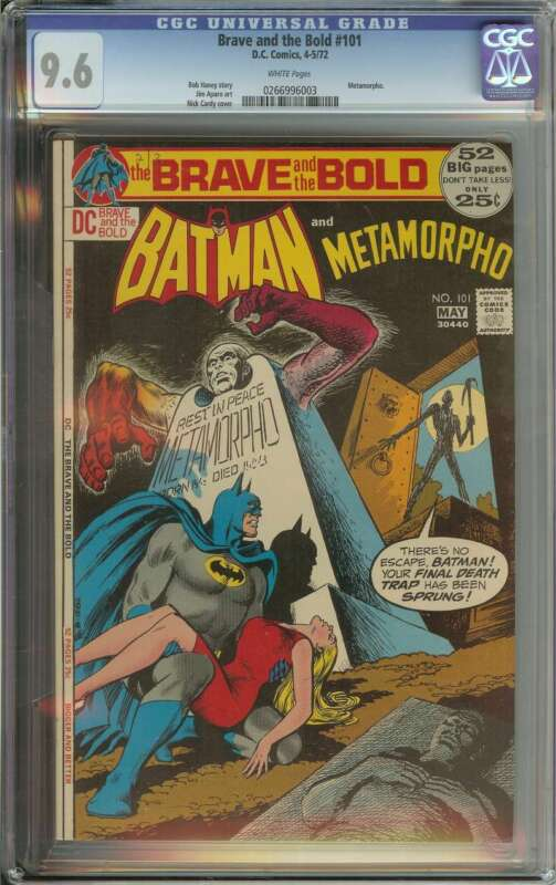 BRAVE AND THE BOLD #101 CGC 9.6 WHITE PAGES