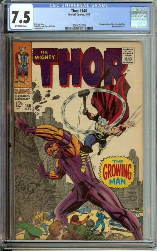 THOR #140 CGC 7.5 OW PAGES