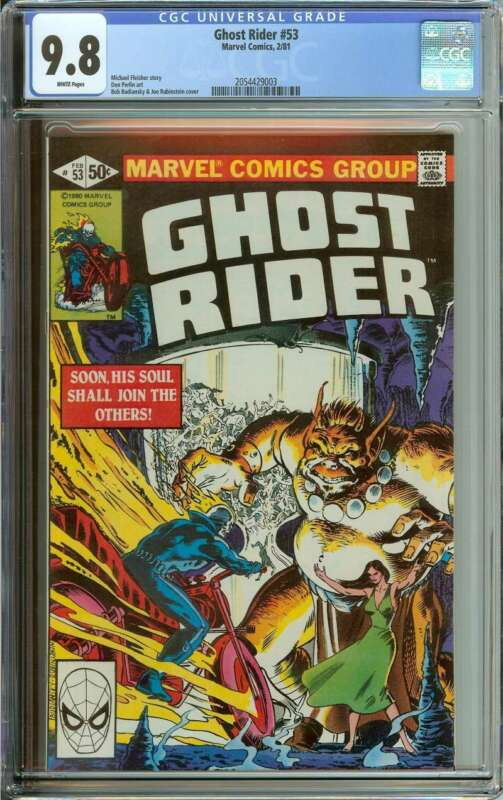 GHOST RIDER #53 CGC 9.8 WHITE PAGES