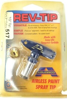 Airlessco Rev-tip Switch 517 Airless Spray Tip 10 Fan Oem Part 560-517 New