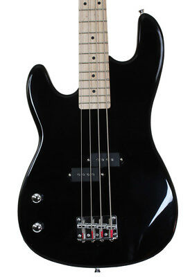 Left Handed Full Size 4 String Electric Bass Guitar  Davison Demo Used 2nd Black