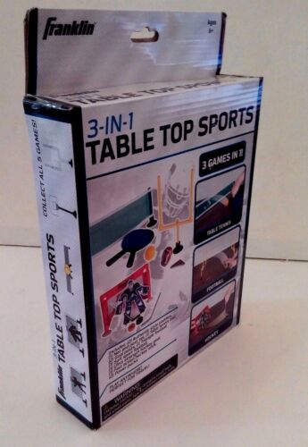 Franklin 3-in-1 Table Top Sports Includes Table Tennis, Football & Hockey