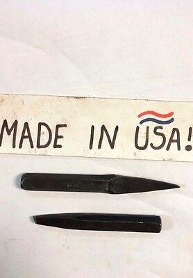 2 Pc Set   Cape And Diamond Point Vintage Chisels   Made In Usa   New Old Stock