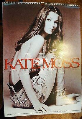 KATE MOSS BAREFOOT FASHION 12 MONTH Wall Calendar 1999 OVERSIZE
