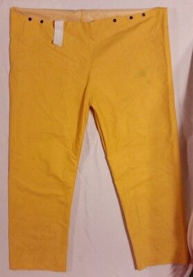 Light Orange Large 45 X 29.5 X 12 Wet Rain Suit Coverall Bottoms W Suspenders