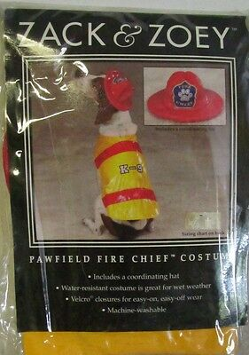 PAWFIELD FIRE CHIEF Firefighter Fireman DOG COSTUME Halloween Size XS