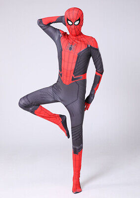 2019 New Design Far From Home Spiderman Costume Tights Zentai Suit Kids or Adult (New Kid Kostüme 2019)