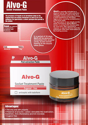 Dental Dsi Alvo-g Socket Treatment Paste 10g Antiseotic With Iodoform Alvogyl