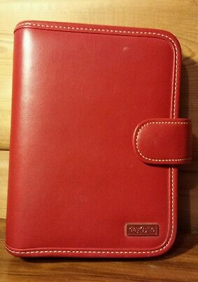 Franklin Covey Day One Soft Rose Red Faux Leather Personal Planner Organizer