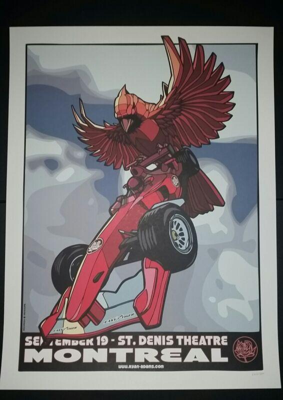 RYAN ADAMS Montreal Canada Numbered /300 2012 Tour Poster Cardinals Lithograph