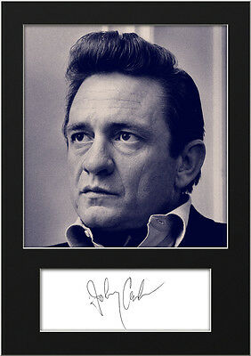 JOHNNY CASH #3 A5 Signed Mounted Photo Print - FREE DELIVERY