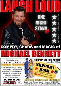 Michael Bennett International Comedian fundraiser event Dream Guards Varsity Lakes Gold Coast South Preview