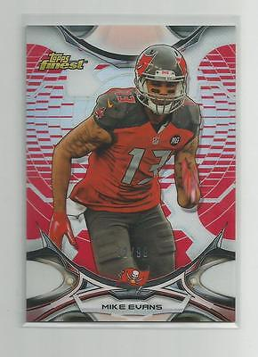 2015 Finest  MIKE EVANS    Red Refractor  72/99