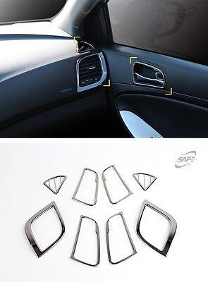 SAFE Carbon Interior Molding Kit 8pcs For Hyundai Accent Solaris 4D 5D 2011 2016